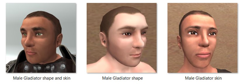 LL Faces - Male - Male Gladiator