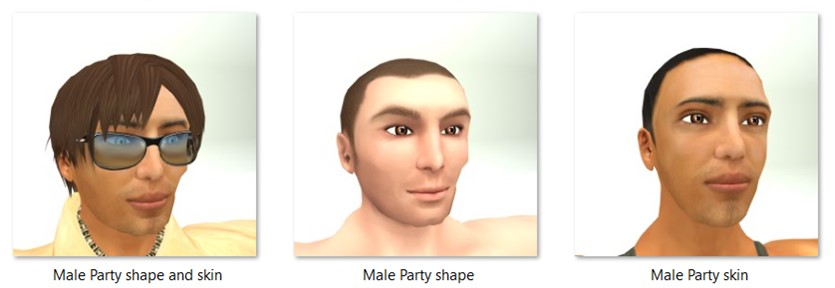 LL Faces - Male - Male Party