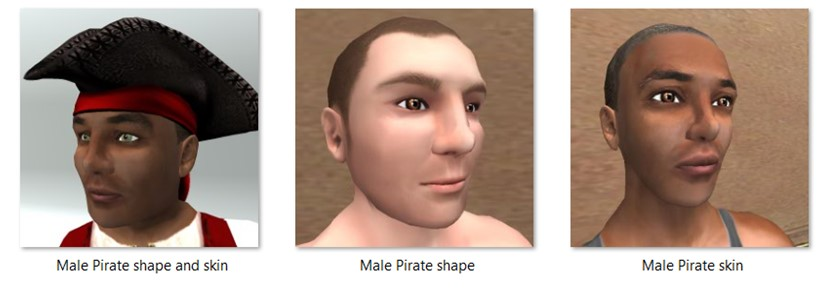 LL Faces - Male - Male Pirate