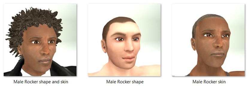 LL Faces - Male - Male Rocker