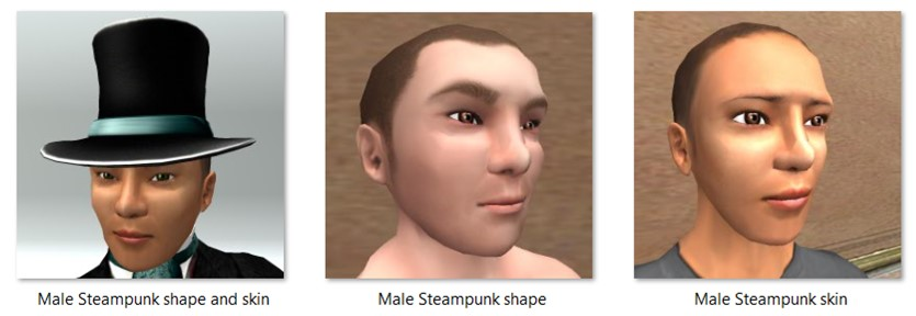 LL Faces - Male - Male Steampunk