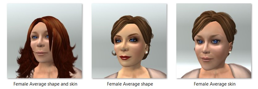 Female Average Shape and Skin