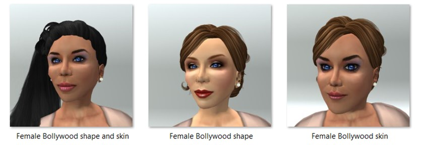 Female Bollywood Shape and Skin