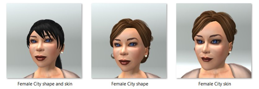 Female City Shape and Skin