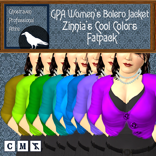 GPA Women's Bolero Jacket - Zinnia's Cool Colors- Fatpack Ad