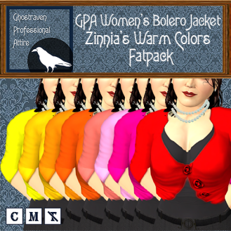 GPA Women's Bolero Jacket - Zinnia's Warm Colors- Fatpack Ad