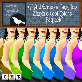 GPA Women's Tank Top - Zinnia's Cool Colors- Fatpack Ad