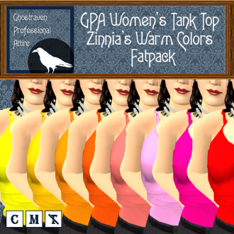 GPA Women's Tank Top - Zinnia's Warm Colors- Fatpack Ad